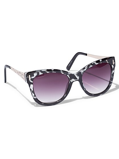 Marble Cat-Eye Sunglasses  - New York & Company