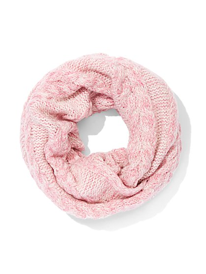 Marled Cable-Knit Infinity Scarf - New York & Company