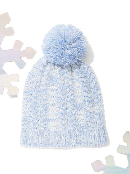 Marled Pom-Pom Hat - New York & Company