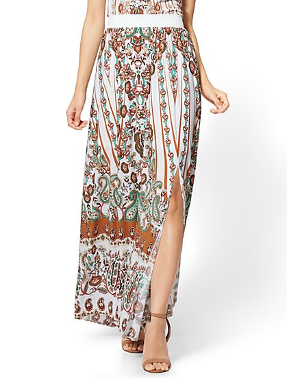 Maxi Skirt - Brown Paisley - New York & Company