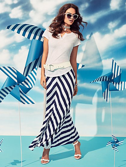Maxi Skirt - Stripe - New York & Company