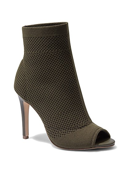 Mesh Open-Toe Bootie  - New York & Company