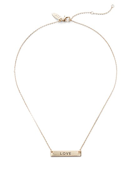 Message Bar Necklace - New York & Company