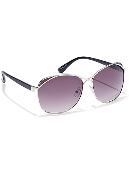 Metal-Accent Sunglasses - New York & Company