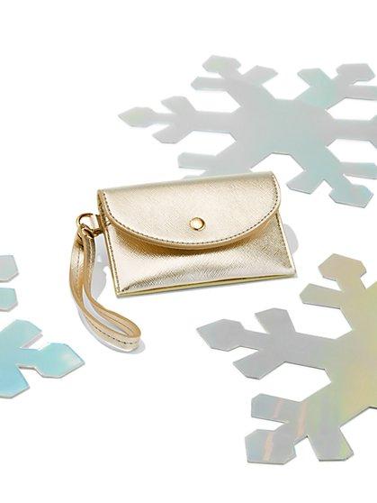 Metallic Envelope Card Case Wallet - New York & Company