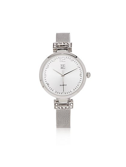 Metallic Mesh-Strap Watch - New York & Company
