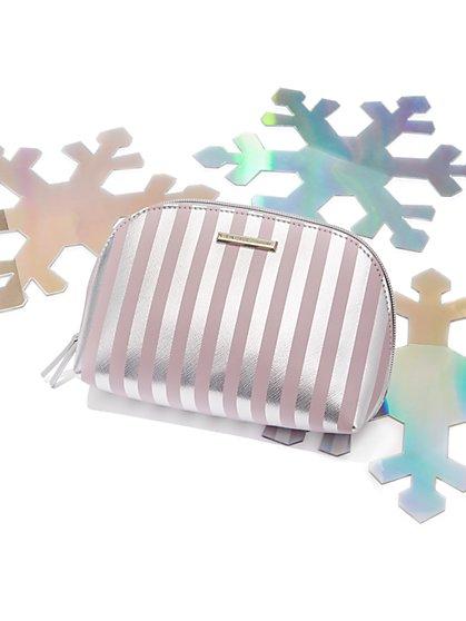 Metallic-Stripe Cosmetic Case - New York & Company