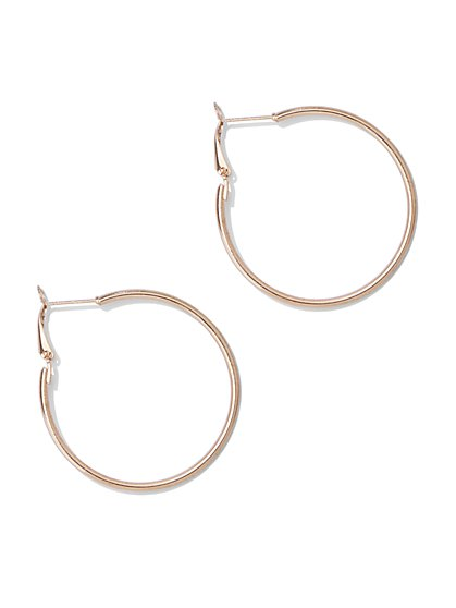 Metallic-Tube Hoop Earring - New York & Company