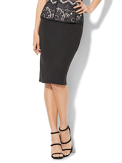 Midi Knit Pencil Skirt - New York & Company