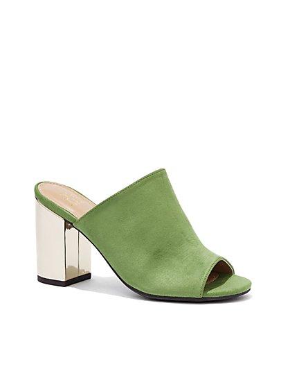 Mirror-Heel Mule Sandal - New York & Company