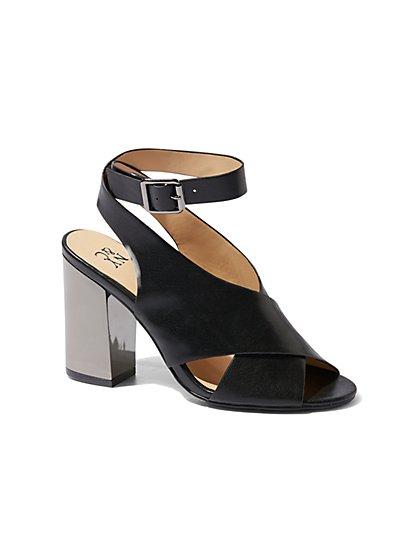 Mirror-Heel Slingback Sandal - New York & Company