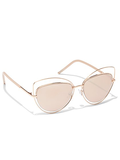 Mirrored Cat-Eye Sunglasses - New York & Company