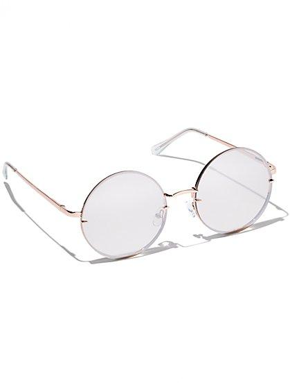 Mirrored Rimless Sunglasses - New York & Company