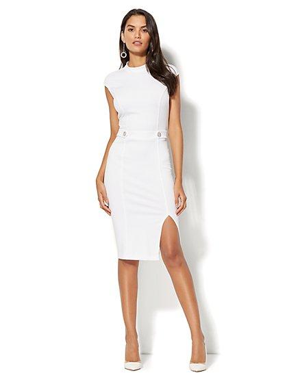 Mock-Neck Sheath Dress - Ponte - New York & Company