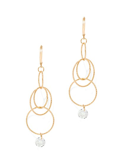 Multi-Circle Linear Drop Earring  - New York & Company