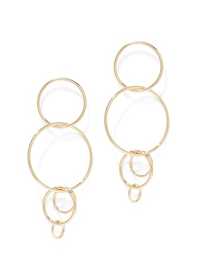 Multi-Hoop Drop Earring  - New York & Company