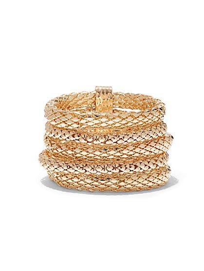 Multi-Row Mesh Coil Bracelet  - New York & Company