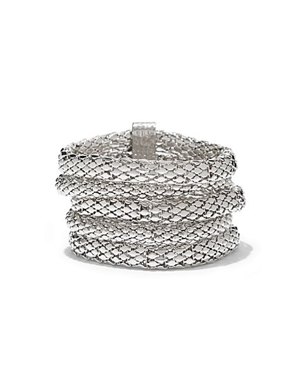 Multi-Row Mesh Coil Bracelet  - New York & Company