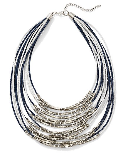Multi-Row Seed Bead Necklace  - New York & Company