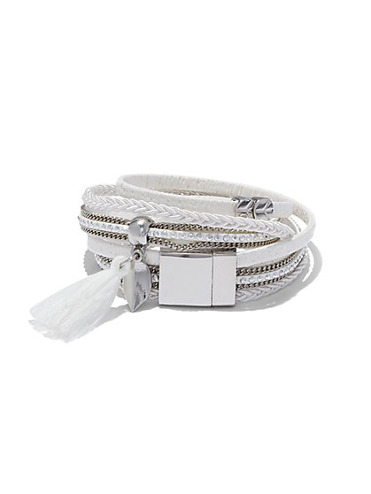 Multi-Row Wrap Bracelet  - New York & Company