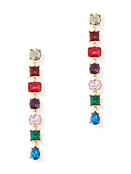 Multicolor Linear Drop Earring - New York & Company