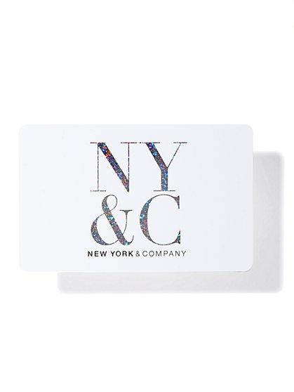 NY&C Gift Card - White - New York & Company