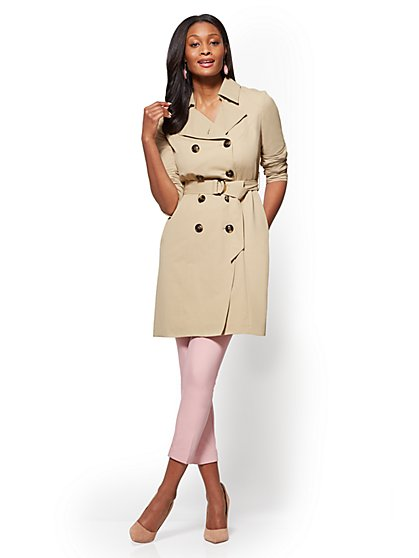 NY Trench Coat -  Belted Double-Breasted - Long - New York & Company