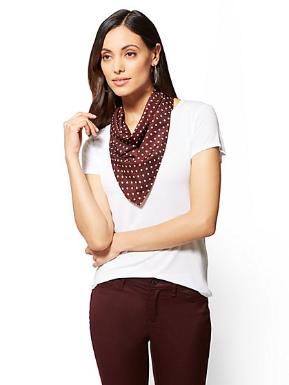 Neckerchief Scarf - Dot Print  - New York & Company