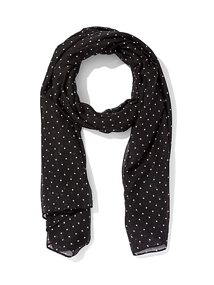 Oblong Scarf - Dot Print  - New York & Company