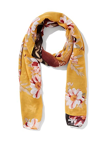 Oblong Scarf - Floral  - New York & Company