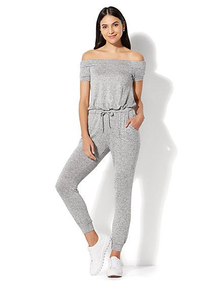 Off-The-Shoulder Jumpsuit - New York & Company
