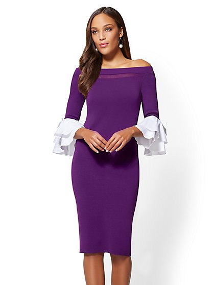 Off-The-Shoulder Sheath Dress - New York & Company