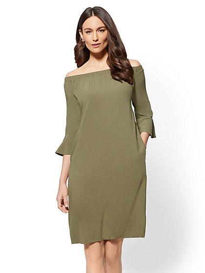 Off-The-Shoulder Shift Dress - New York & Company