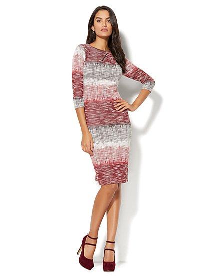 Ombré Crossover-Detail Sheath Dress - Tall - New York & Company