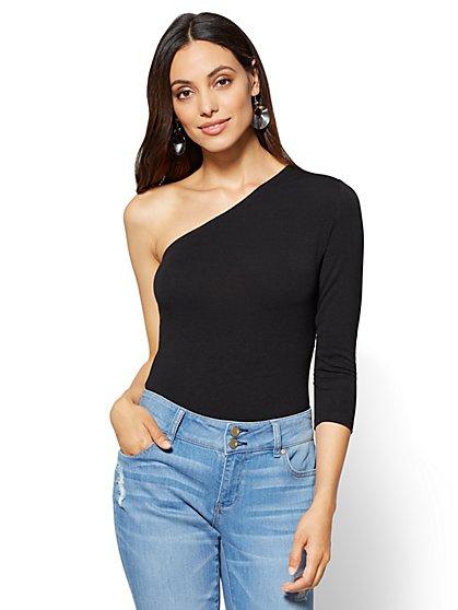 One-Shoulder Bodysuit  - New York & Company