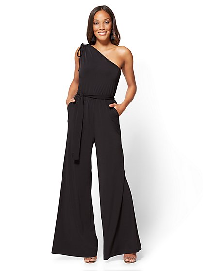 One-Shoulder Jumpsuit - Petite - New York & Company