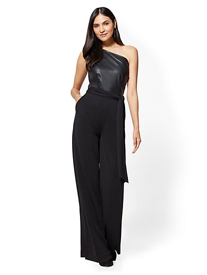 One-Shoulder Jumpsuit - New York & Company