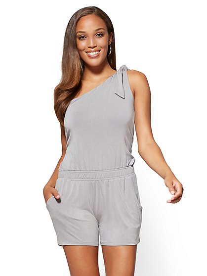 One-Shoulder Romper - New York & Company