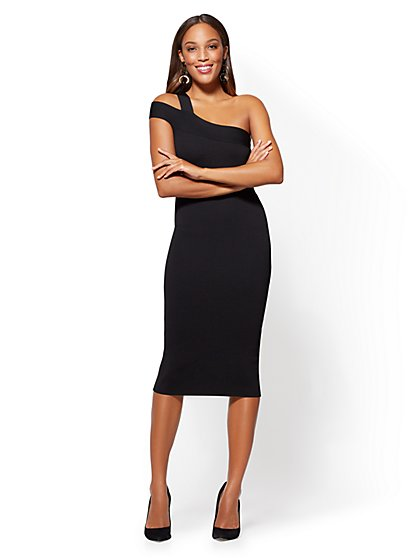 One-Shoulder Sweater Dress - New York & Company