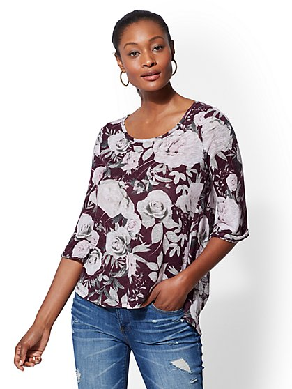 Open-Back Twofer Top - New York & Company