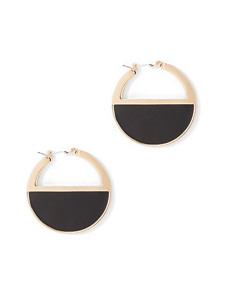 Open Disc Drop Earring  - New York & Company