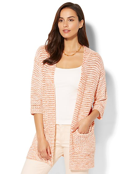 Open-Front Long Cardigan - New York & Company