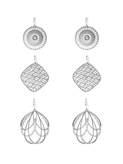 Openwork Drop Earring Set   - New York & Company