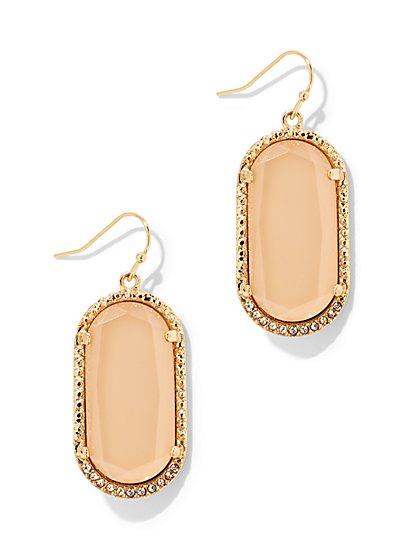 Oval Faux-Stone Drop Earring - New York & Company