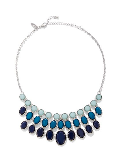 Oval Faux-Stone Statement Necklace - New York & Company