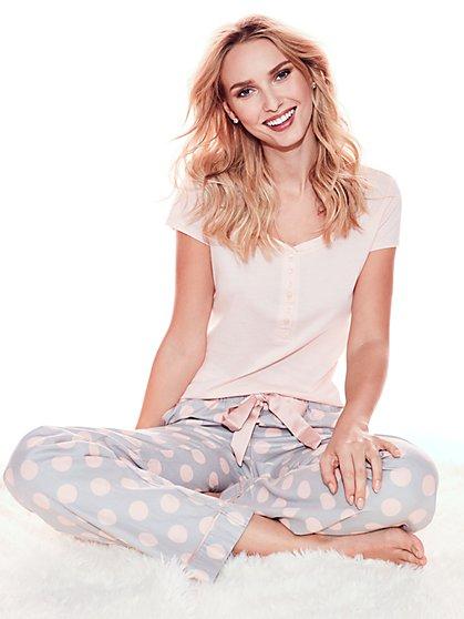 Pajama Set - Dot Print - New York & Company