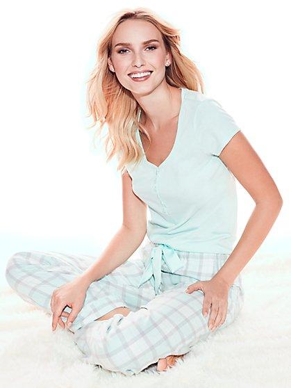 Pajama Set - Metallic Plaid - New York & Company