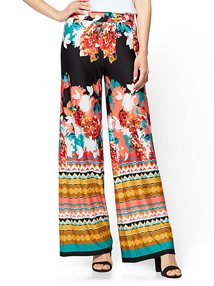 Palazzo Pant - Floral & Graphic Prints - New York & Company