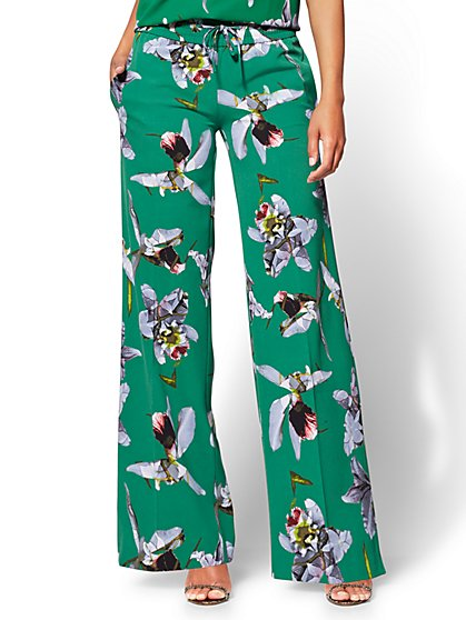 Palazzo Pant - Orchid Print - New York & Company