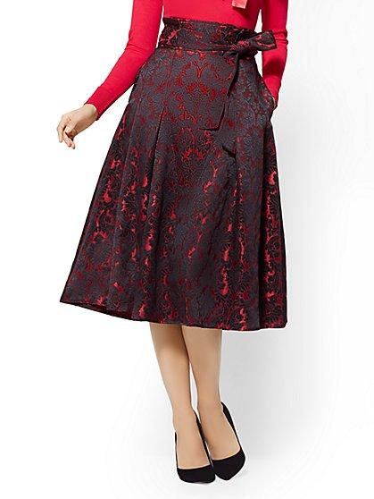 Paperbag-Waist Flare Skirt - New York & Company